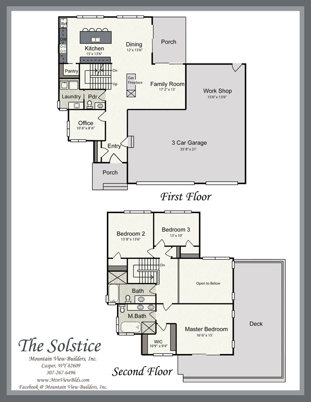 The Solstice by Mountain View Builders of Casper Wyoming